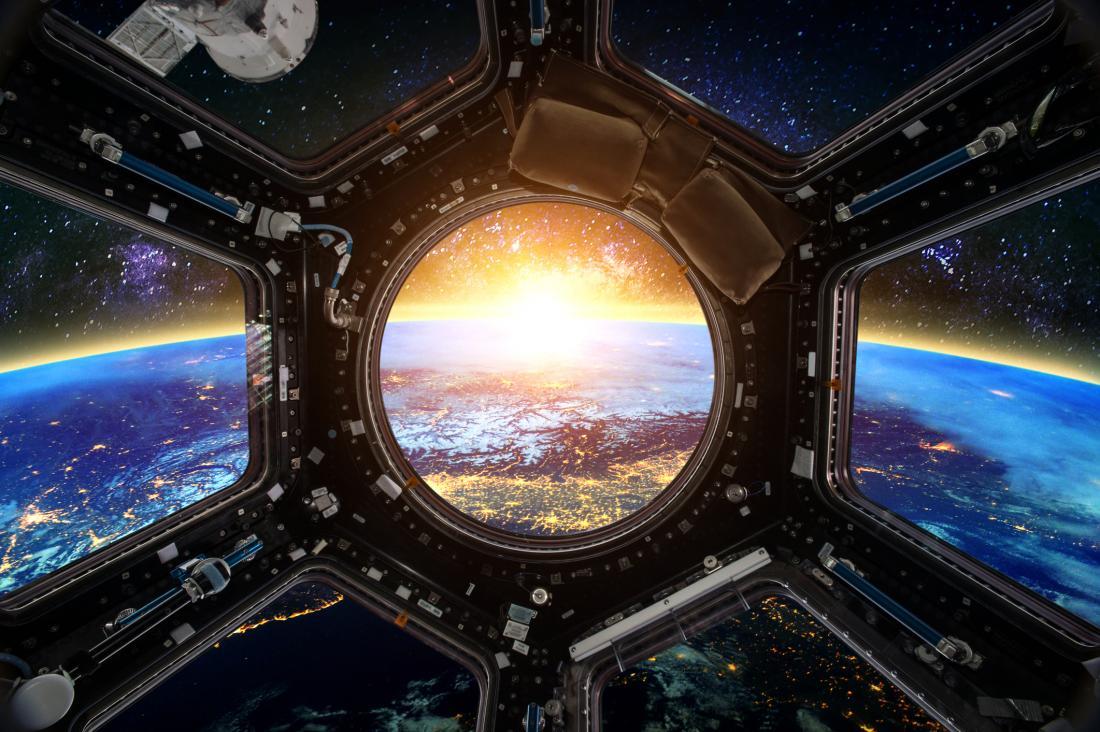 vista dalla navetta spaziale