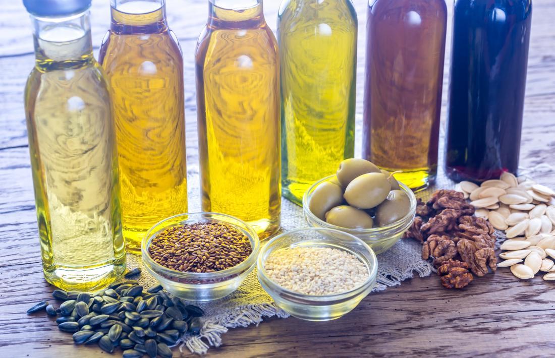 huiles à base de plantes