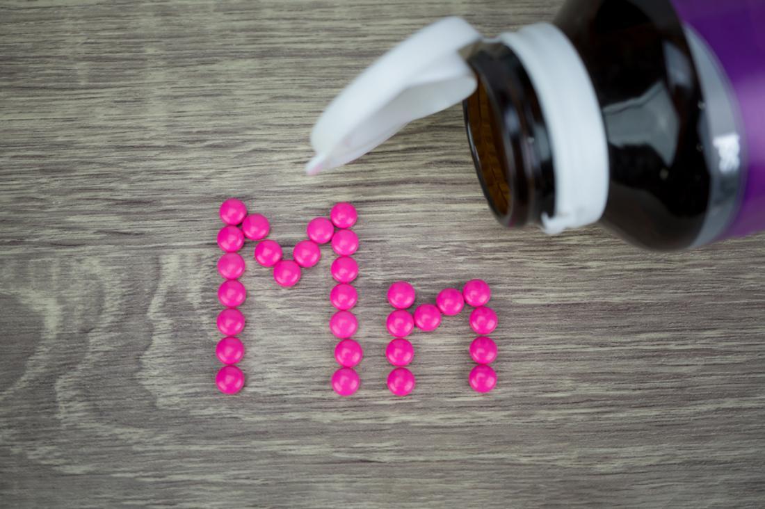 bottiglia di integratori di manganese