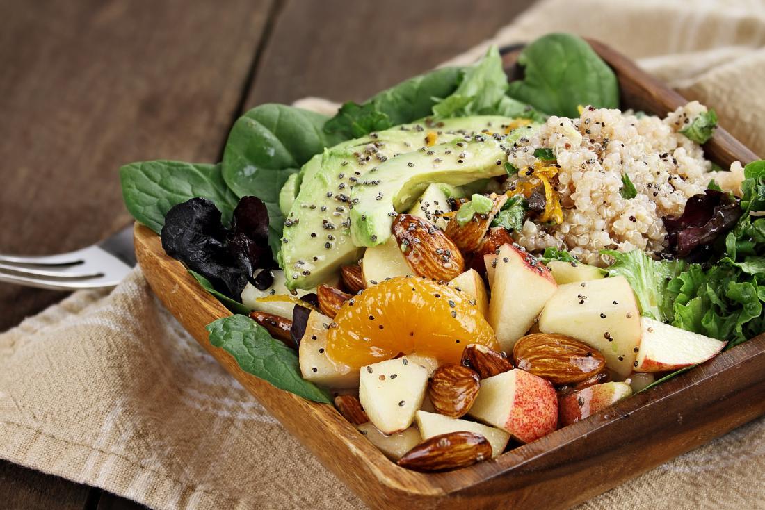 salade de fruits et de noix